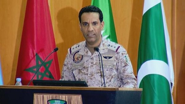 ناطق التحالف العربي يؤكد إصابة اربعة مدنيين جراء تدمير طائرة بدون طيار تابعة لميليشيا الحوثي