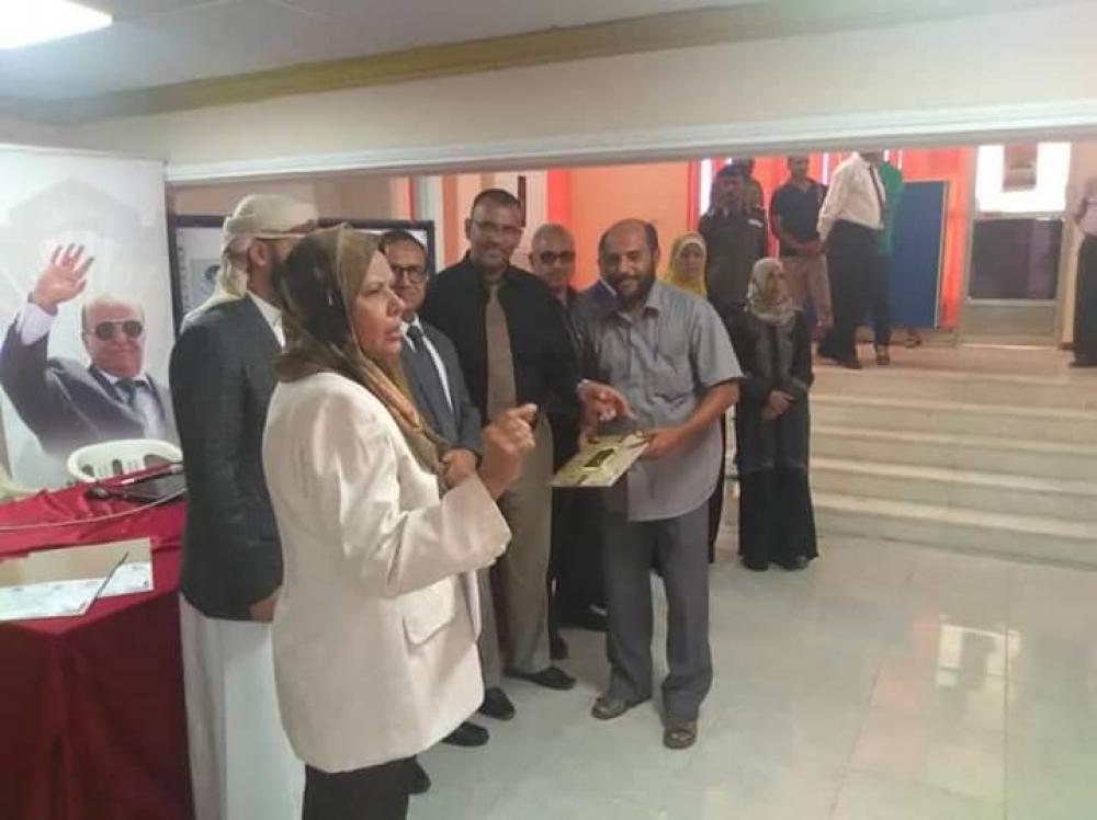 عدن: تكريم موظفو مؤسسة المياة والصرف الصحي بحضور مدير المؤسسة ورئيس جامعة عدن