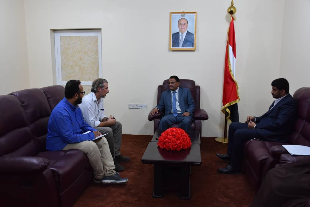 عدن| وزير النقل الجبواني يؤكد دعم الحكومة لجهود وأنشطة منظمة اطباء بلاحدود