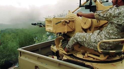 الضالع| مدفعية الجيش الوطني والمقاومة تدمر دبابة وبي إم بي وطقمين للحوثيين في منطقة قرين الفهد بالعود