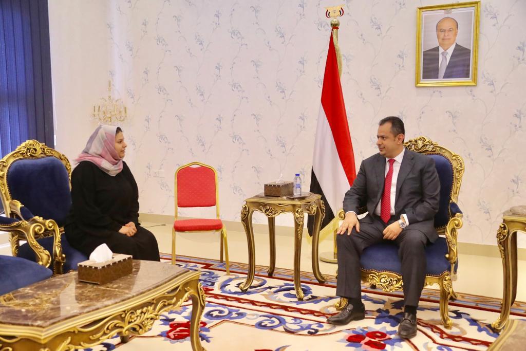 رئيس الوزراء د.معين عبدالملك يثمن الدعم السويدي لعملية السلام في اليمن